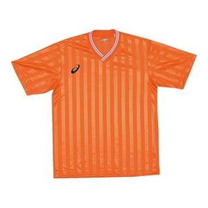 アシックス(asics) XS3138 JR.ゲームシャツHS 140 20(オレンジ)