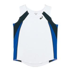 アシックス(asics) XT2036 W'Sランニングシャツ XO 0145(ホワイトxブルー)