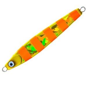 ヨーヅリ(YO-ZURI) ブランカ タチ魚SP ゼブラ 100g ZGO(ゼブラゴールドオレンジ) F1115-ZGO