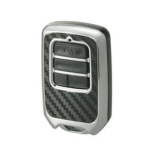 カーメイト(CAR MATE) リモコンキーカバー カーボン調 65×40×20mm メッキ DZ256