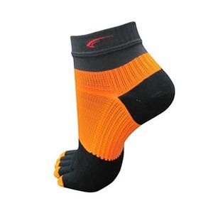FOOTMAX(フットマックス) 5 FINGER MODEL S ダークグレーxオレンジ FXR107