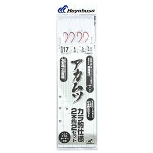 ハヤブサ(Hayabusa) 深場用胴突 アカムツから鈎 2本鈎2セット 鈎17/ハリス4 SD833