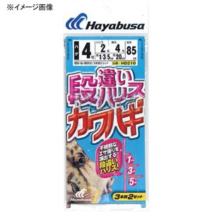 ハヤブサ(Hayabusa) 段違い135ハリス カワハギ 3本鈎2セット HD210