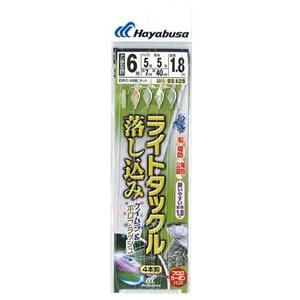 ハヤブサ(Hayabusa) ライトタックル 落し込み ケイムラ&ホロフラッシュ 4本鈎 SS428