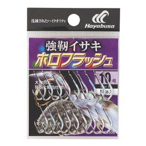 ハヤブサ(Hayabusa) 小袋バラ鈎 強靭イサキ ホロフラッシュ シルバー 10号 BS305