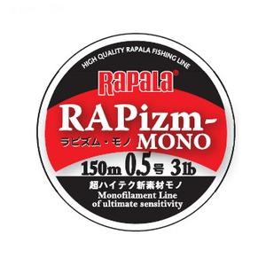 Rapala(ラパラ) ラピズム モノ 150m 0.5号/3lb クリア RPZM150M05CL