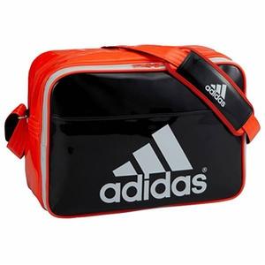 adidas(アディダス) エナメル ショルダー 27L/L (S92809)ブラックxソーラーレッドxホワイト AJP-Z7679