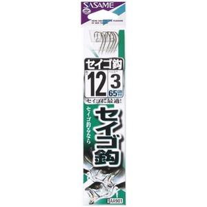 ささめ針(SASAME) セイゴ鈎 糸付 鈎12/ハリス3 白 AA901