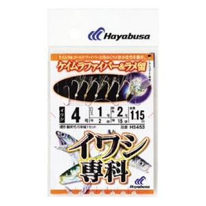 ハヤブサ(Hayabusa) イワシ専科 ケイムラファイバー&ラメ留 鈎4/ハリス1 白×金 HS453