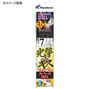 ハヤブサ(Hayabusa) 光撃投げキス スパークMIX 4本鈎2セット NT225 仕掛け