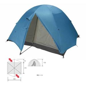 ダンロップ(DUNLOP) 3シーズン用登山テント VK-60 アルパインドームテント