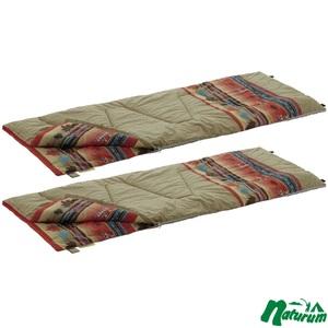 ロゴス(LOGOS)丸洗い寝袋ナバホ・6×2【お得な2点セット】