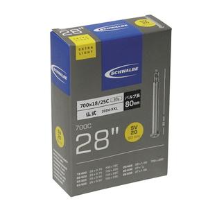 SCHWALBE(シュワルベ) 【正規品】チューブ 28インチ(700C) 仏式XXロング 700x18-25C (軽量) 20SV-XXL