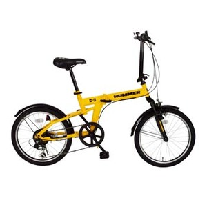 HUMMER(ハマー) HUMMER FサスFDB206S【代引不可】 MG-HM206 20インチ変速付き折りたたみ自転車