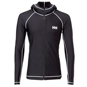 【送料無料】HELLY HANSEN(ヘリーハンセン) フルジップ フーディ ラッシュガード / L/S FULL-ZIP HOODIE RASHGUARD WL K(ブラック) HE81418