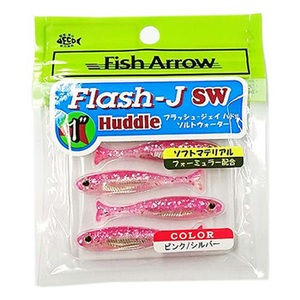 フィッシュアロー Flash-J Huddle SW(フラッシュ-ジェイ ハドル ソルトウォーター) 1インチ #101 ピンク×シルバー