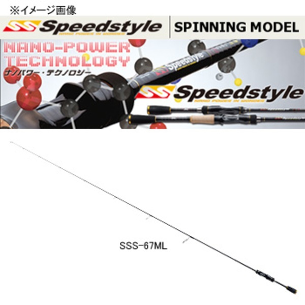 メジャークラフト スピードスタイル SSS-S682L/SFS 2ピーススピニング