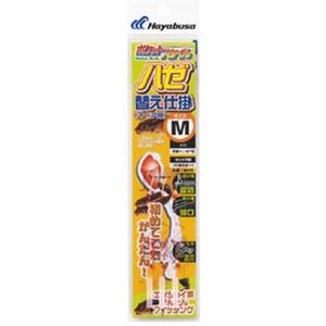 アウトドア&フィッシング ナチュラムハヤブサ(Hayabusa) ポケットスタイル ハゼ替え仕掛 M 金x赤 HA555
