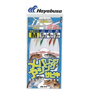 ハヤブサ(Hayabusa) メバリング・アジングサビキ MIXサバ皮2本鈎 M 金 HS490