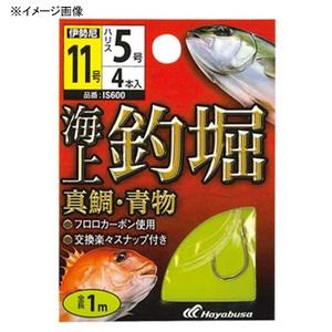 ハヤブサ(Hayabusa) 海上釣堀 糸付 真鯛・青物 鈎12/ハリス6 金 IS600