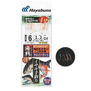 ハヤブサ(Hayabusa) 海戦イサキ手釣り ケイムラMIXスキン&から鈎 SE366 仕掛け