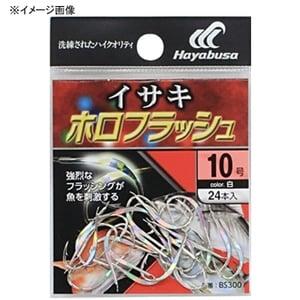 ハヤブサ(Hayabusa) 小袋バラ鈎 イサキ白 ホロフラッシュ 7号 白 BS300