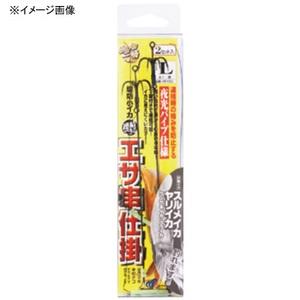 ハヤブサ(Hayabusa) 堤防イカ一筋 堤防小イカ エサ串仕掛2セット L 1 黒 HR150