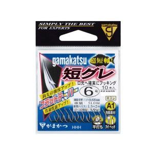 がまかつ(Gamakatsu) A1(エーワン)短グレ 6号 茶 67050