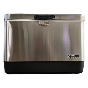 TENT FACTORY(テントファクトリー) メタルクーラー ステンレスボックス TF-MBS51 キャンプクーラー50~99リットル