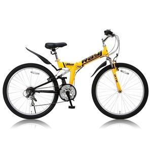 Raychell(レイチェル) MTB-2618RR 22324 26インチ変速付き折りたたみ自転車