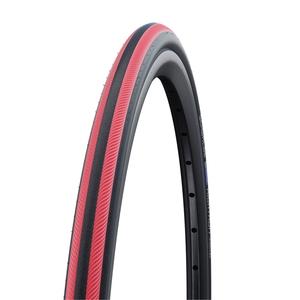SCHWALBE(シュワルベ) 【正規品】ライトラン「車椅子タイヤ」 24x1.00 レッドストライプ 10282389.01