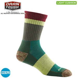 DARN TOUGH(ダーンタフ) HEADY STRIPE MICRO CREW LIGHT CUSHION M GREEN 19441924001005