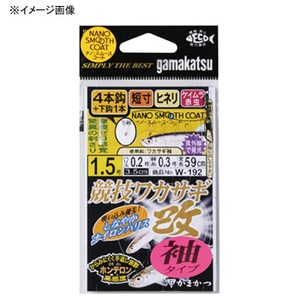がまかつ(Gamakatsu) 競技ワカサギ・改 袖タイプ 4本仕掛 鈎2号/ハリス0.2 W192