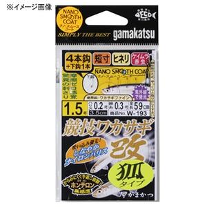 がまかつ(Gamakatsu) 競技ワカサギ・改 狐タイプ 4本仕掛 鈎2.5ハリス0.3 W193