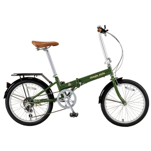 BIKE EQUIP (バイクエクイップ) 【パンク自己修復タイヤチューブ採用】 セルフシーリング 20インチ折りたたみ自転車【シマノ6段変速】 MDL31007 20インチ変速付き折りたたみ自転車