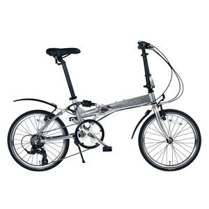 【送料無料】DEFACTO(デファクト) DZ-20 軽量フルアルミ仕様 20インチ折畳自転車 【シマノ 7段変速/リンクサスペンション搭載】 グラファイトシルバー DFDZ20/GP