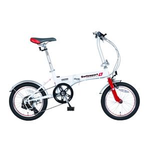 【送料無料】Switzsports(スウィツスポーツ) VARZO-II 【バルツォII】 16インチ 折畳自転車 【シマノ6段変速】【代引不可】 ホワイトxレッド MDL31008