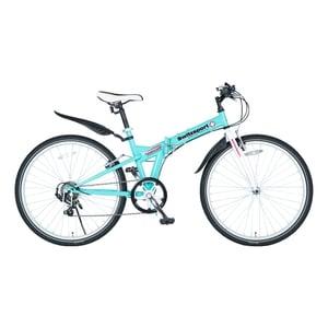 【送料無料】Switzsports(スウィツスポーツ) SIERRE-II シエルII クロスバイクタイプ26インチ折畳自転車【代引不可】 スカイブルー MDL31014