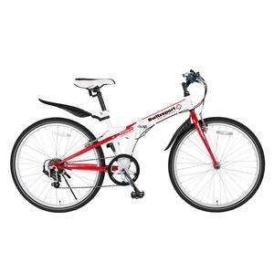 【送料無料】Switzsports(スウィツスポーツ) SIERRE-II 【シエルII】 クロスバイクタイプ26インチ折畳自転車 【シマノ7段変速】 ホワイトxレッド MDL31015