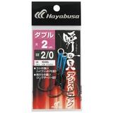 ハヤブサ(Hayabusa) 瞬貫アシストフック ダブル 2cm FS456-2/0 ジグ用アシストフック