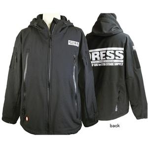 ドレス(DRESS) タクティカルジャケット 爆釣メジャー対応ワッペン付 S ブラック