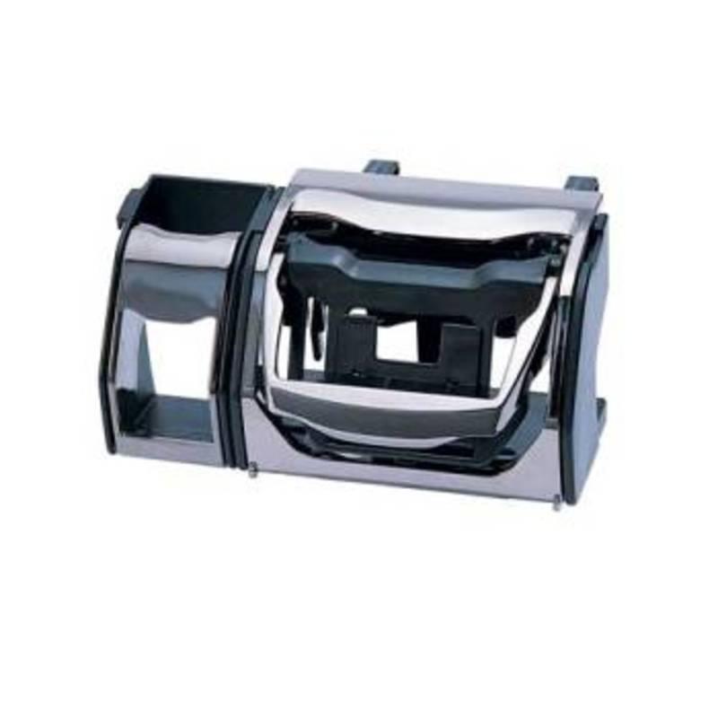 カーメイト(CAR MATE) CZ296 ドリンク&ケイタイ+ポケット BKメタ BK(ブラック)