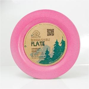 エコソウライフ(ECOSOULIFE) Large Dinner Plate Pink 14714