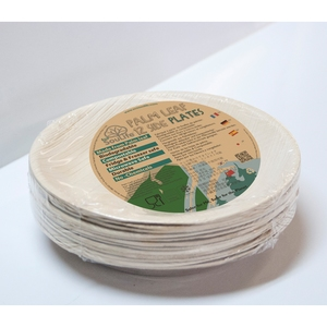 エコソウライフ(ECOSOULIFE) Palm Leaf 12pcs Side Plates Natural 14871