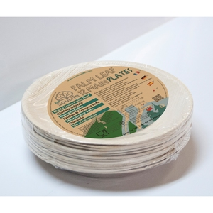 エコソウライフ(ECOSOULIFE) Palm Leaf 12pcs Main Plates Natural 14881