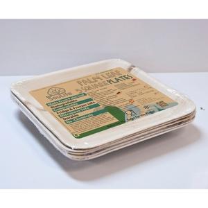エコソウライフ(ECOSOULIFE) Palm Leaf 5pc Set Large Square plates Natural 14891