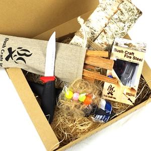 Bush Craft(ブッシュクラフト) ブッシュクラフトスターティングセット ナイフあり(火おこしセット・ルーキー) 10-01-cset-0001
