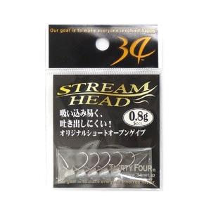 34(サーティーフォー) ストリームヘッド ワームフック(ライトソルト用)