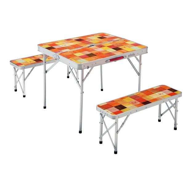 Coleman(コールマン) ナチュラルモザイクファミリーリビングセットミニプラス 2000026758 テーブル・チェアセット