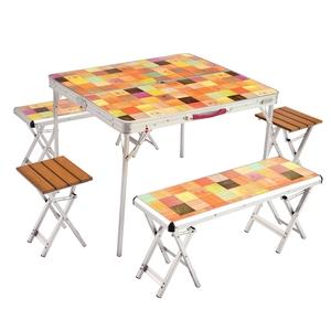 Coleman(コールマン) ナチュラルモザイクファミリーリビングセットプラス 2000026757 テーブル・チェアセット